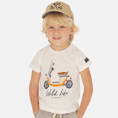 Mayoral Boys Short sleeved vehicle print t-shirt SKU- 3071-61 - S/S2O