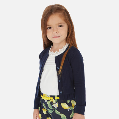 Mayoral Girl Plain Navy Cardigan SKU-  3320-74- S/S2O