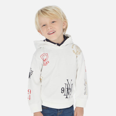 Mayoral Boys Cream Printed sweatshirt  SKU 3441-44 -S/S2O