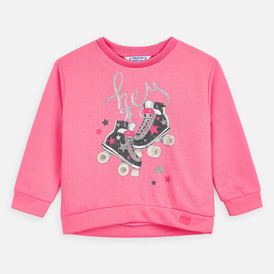 Mayoral Girls Sweatshirt with roller-skates print