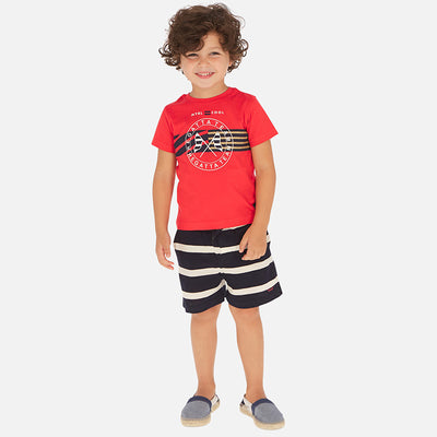 Mayoral Boy T-shirt and striped shorts set  SKU- 3620-68 - S/S2O