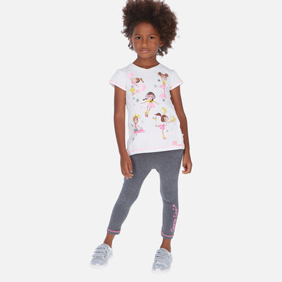 Mayoral Girls T-shirt with design and leggings set   SKU- 3724-95 - S/S2O