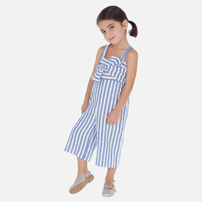 Mayoral Girls Blue Jumpsuit with bow  SKU- 3817-10 - S/S2O
