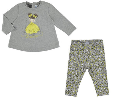 Mayoral Baby Girls Grey Heart Legging Set