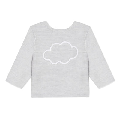 Absorba Baby Unisex Grey Clouds Cardigan SKU 9Q18010 S/S20