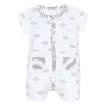 Absorba White Clouds All in One Romper