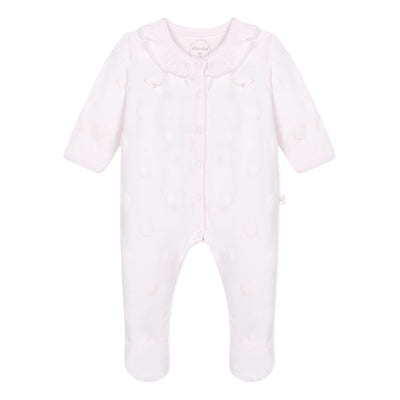 Absorba Baby Girls Rose Pink Polka Dot Babygrow