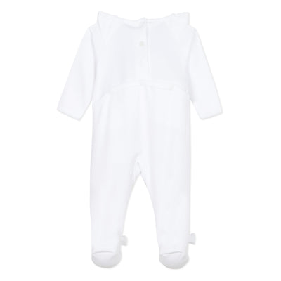 Absorba Baby White Dragonfly Babygrow with Swarovski Crystal Detail