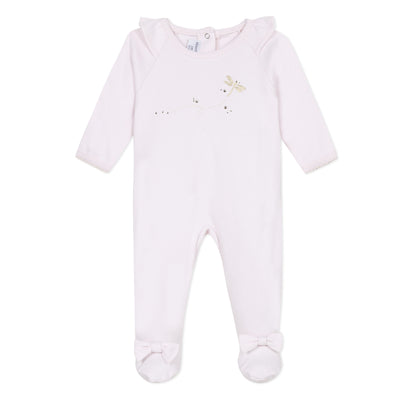 Absorba Baby Rose Pink Dragonfly Babygrow with Swarovski Crystal Detail