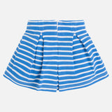 Mayoral Blue and White Striped Skirt SKU 3913-56