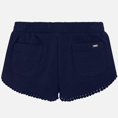 Mayoral Girls Navy Chenille Shorts - SKU - 607-20
