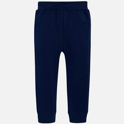 Mayoral Navy Basic Cuffed Fleece Trousers - SKU - 742-72