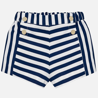 Mayoral Baby Girls Navy Striped Shorts  - SKU -1223