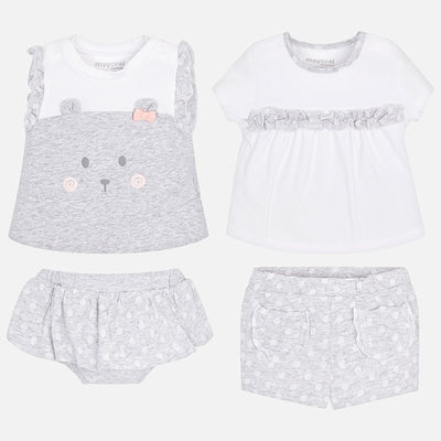 Mayoral Baby Girls Pearl 4 Piece Short Set- SKU - 1605-31