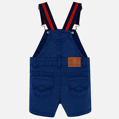 Mayoral Baby Boys Steel Blue Overalls with White polo Set- SKU - 1639-102