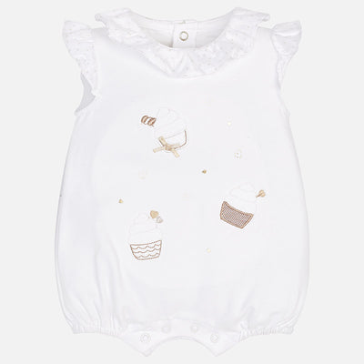 Mayoral Baby Girls Short pyjamas with ruffled collar SKU -1705-76