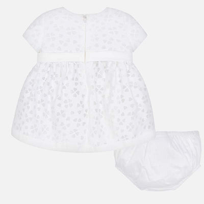 Mayoral Baby Girls Natural Devore Dress - SKU -1817-49