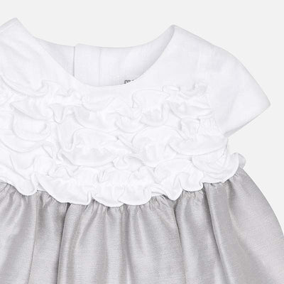 Mayoral Baby Girls Silver Dress