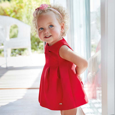 Mayoral Baby Girls Red Taffeta Dress - SKU - 1922-10