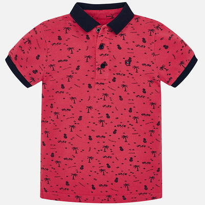 Mayoral Blackberry S/s Jacquard Polo Shirt - SKU - 3118-60