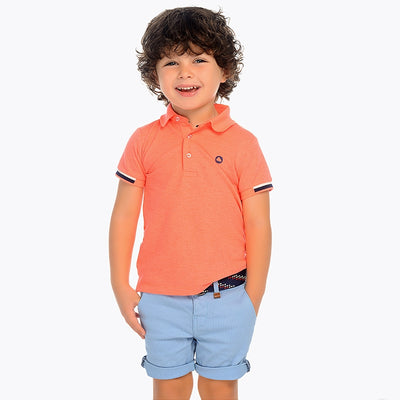 Mayoral Boys Glass Pique Shorts W/Belt- SKU - 3232-35
