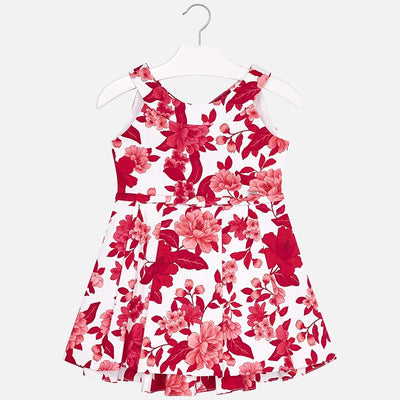 Mayoral Red Flower Print Dress - SKU -3914-95