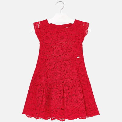 Mayoral Red Lace Dress- SKU - 3934-77