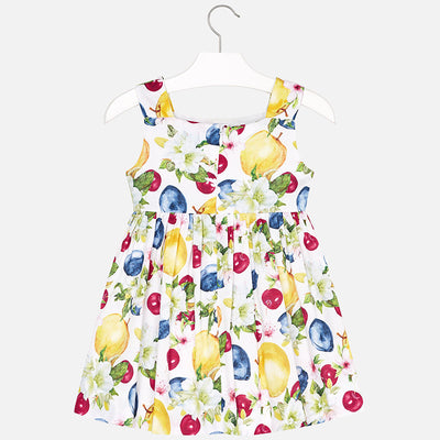 Mayoral Yellow Apple Print Dress - SKU - 3946-80