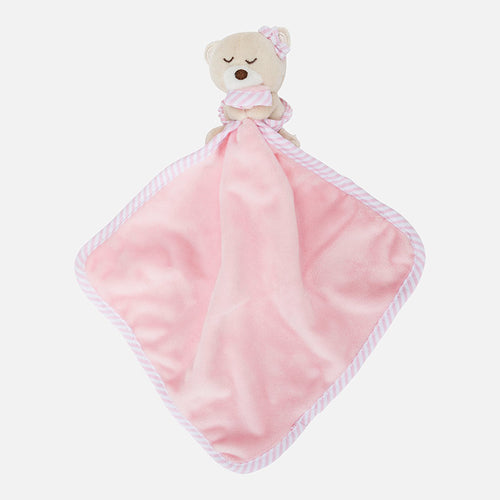 Mayoral Pink Baby Comforter With Teddy Bear