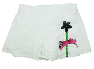 Little Darlings Cherry Cherry Holiday White Culotte Short