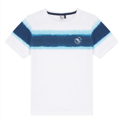 3Pommes Boys White T-Shirt   SKU  3Q10135-01   S/S20