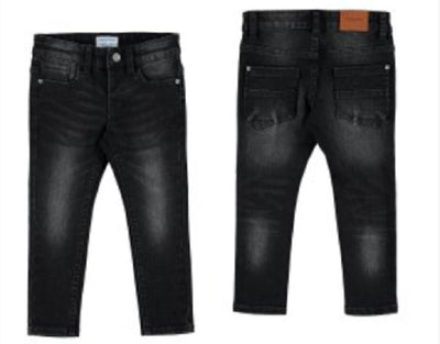 Mayoral Black Super slim fit Denim Jean SKU 4526-58