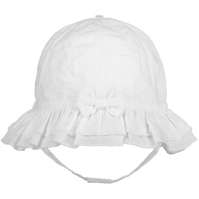 Pre Order Emile et Rose Baby Girls White Sun Hat  SKU  4749WH  S/S20