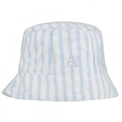 Baby Boys Pale Blue Stripy Sun Hat