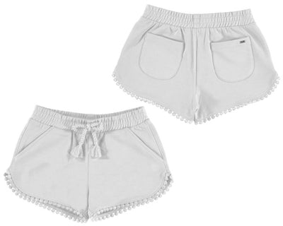 Mayoral Girls White Chenille Shorts - SKU - 607-18