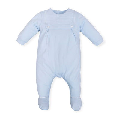 Tutto Piccolo Baby Boy Sky Blue Babygrow/All in one SKU T6081