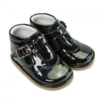 Fofito Dexter baby boys Black Patent Boots