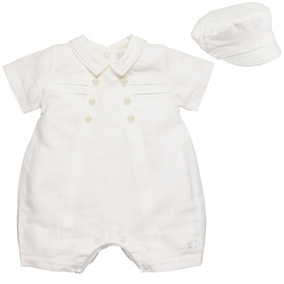 Emile et Rose Neutral Traditional Romper