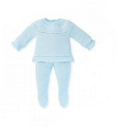 Mac ilusion Baby Blue Two Piece Knitted Set