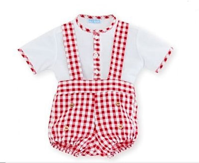 Mac ilusion Baby Red Gingham Set