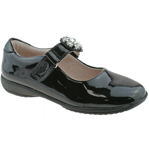 LELLI KELLY BUTTERCUP SCHOOL SHOES BLACK PATENT F FIT  SKU LK8310