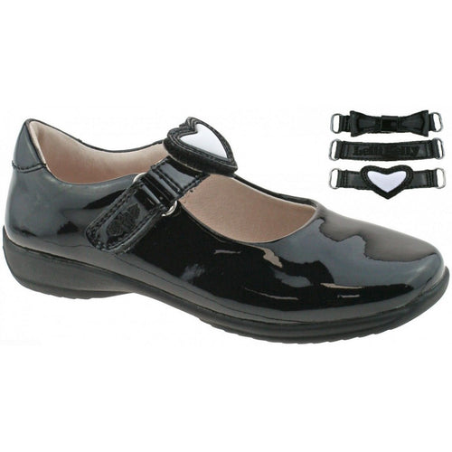 LELLI KELLY COLOURISSIMA SCHOOL SHOES BLACK PATENT F FIT  SKU LK8400