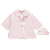Emile et Rose Pink Pom Pom Coat and Hat