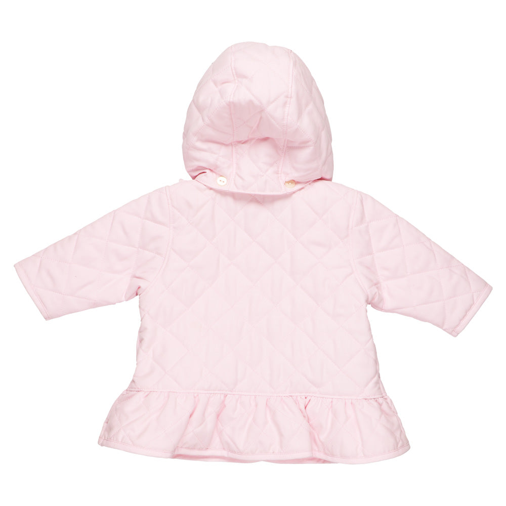 7bb135caf Emile et Rose Microfibre Quilted Jacket with Frills and Bows SKU ...