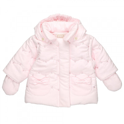 Emile et Rose Pink Rosebud Winter Jacket
