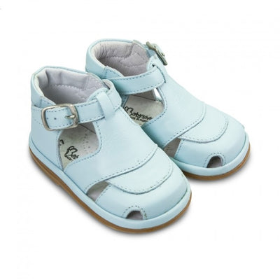 Fofito Jack Baby Boys Pale Blue Leather Sandal