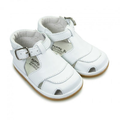 Fofito Jack Baby Boys White Leather Sandal