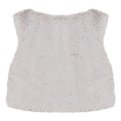 Absorba Girls Silver Grey Faux Fur Gilet