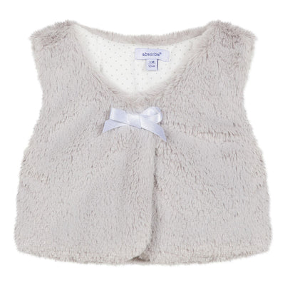 Absorba Girls Silver Grey Faux Fur Gilet  SKU 9P16012