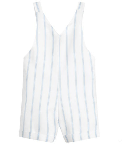 Absorba Boys White Striped Dungaree